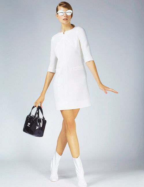 Wedding in Courreges, I love! My favorite dress for a special day