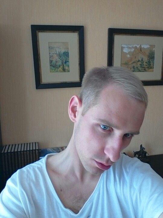 Silver white mix hair