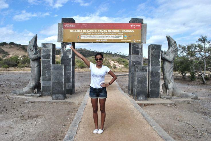 The entrance gate in Rinca Island