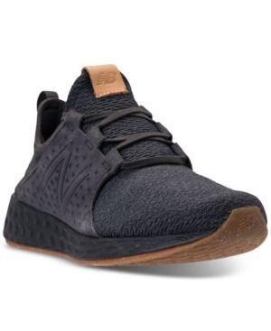 New Balance Men's Fresh Foam Cruz Running Sneakers from Finish Line - Black 11.5