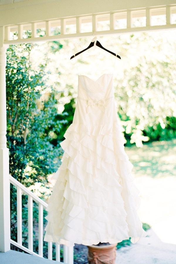 Robe à volants #weddingdress #robedemariee #wedding #dress #robe de #mariee