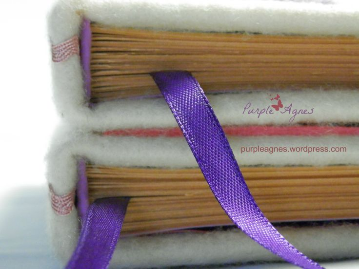 Handmade Journals for 2 sisters, Hardcover, Felt cover, picture 3