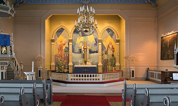 Altaret i Arvidsjaurs kyrka