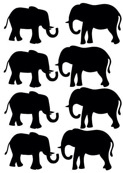 De olifanten muurstickers zijn 65x50 mm, er zitten er 8 op een vel. Ze zijn gemaakt van een matte stickerfolie van zware kwaliteit. De stickers zijn makkelijk verwijderbaar en opnieuw te gebruiken. Zowel binnen als buiten toepasbaar. Verkrijgbaar in de kleuren zwart, wit, mintgroen, roze, fuchsia roze, blauw, marine