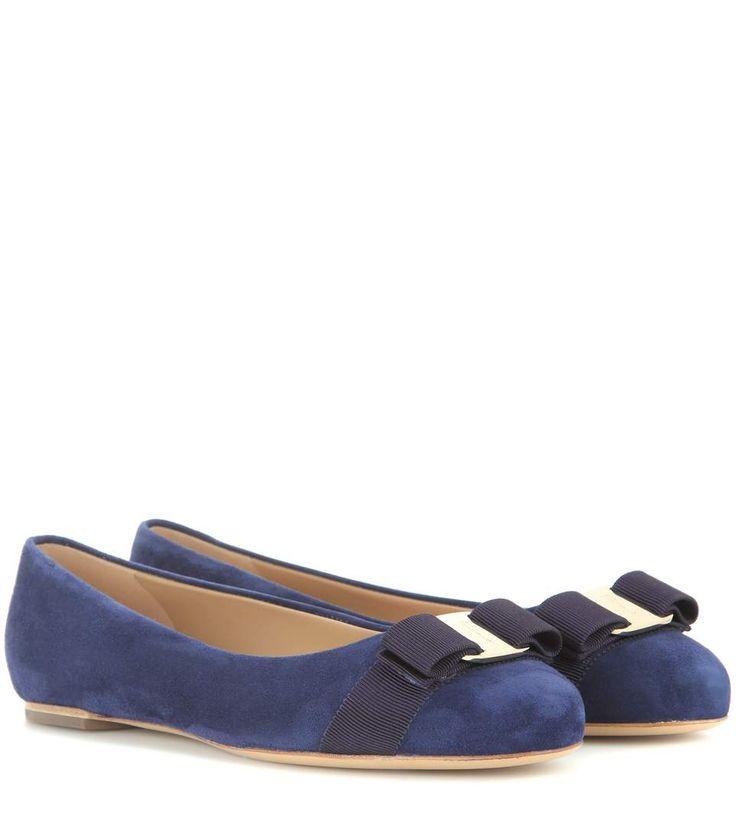 SALVATORE FERRAGAMO 'Varina' suede leather ballerinas in Blue · Shoes ...