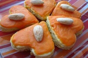 Orange and Almond Heart Cookies/Biscuiti cu portocale si migdale