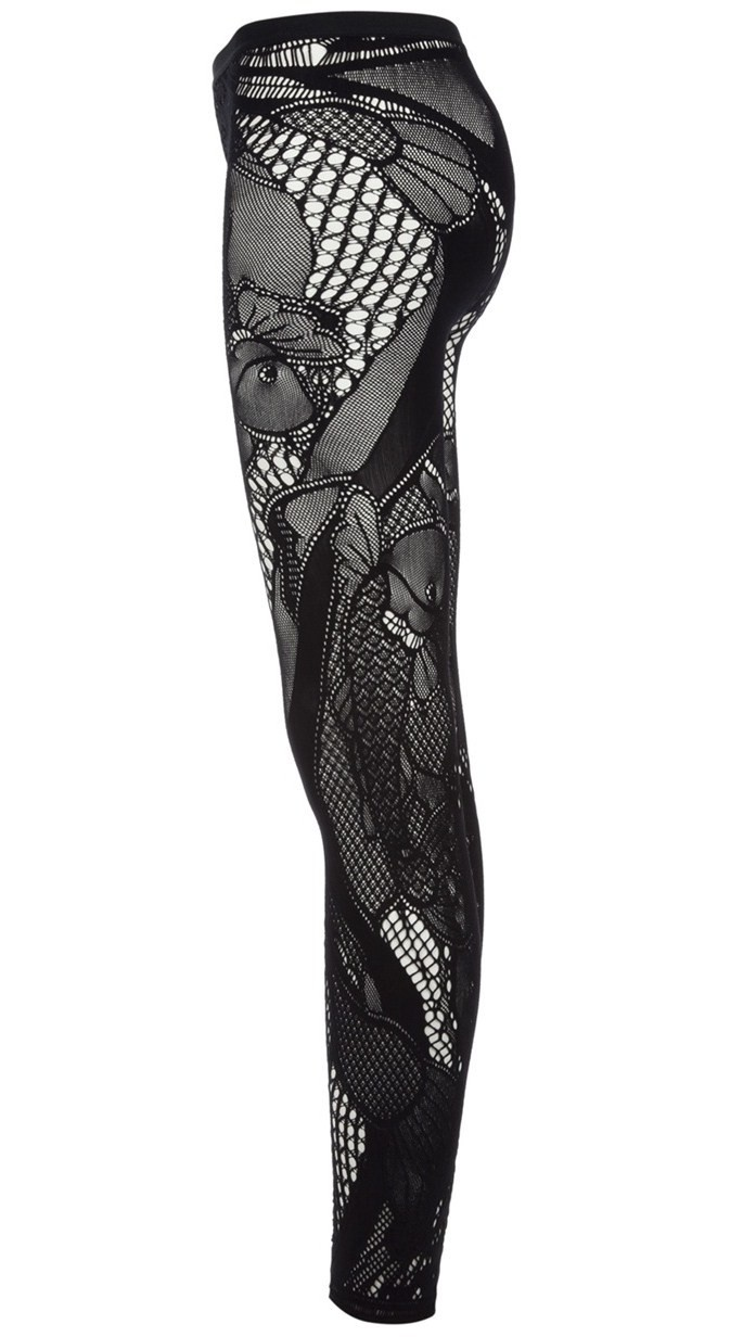 Number Seventy Six: 'Koi' Lace Leggings - {Alexander McQueen}