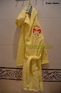Халат детский Nusa Бабочка желтый
