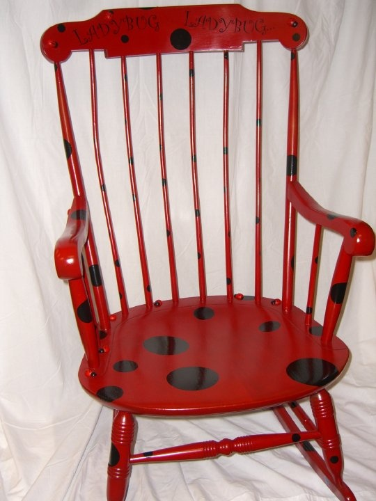 Anna keeps asking for a ladybug chair. Find old children's rocker and rehab!