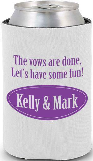 Totally wedding koozies - funny wedding quote