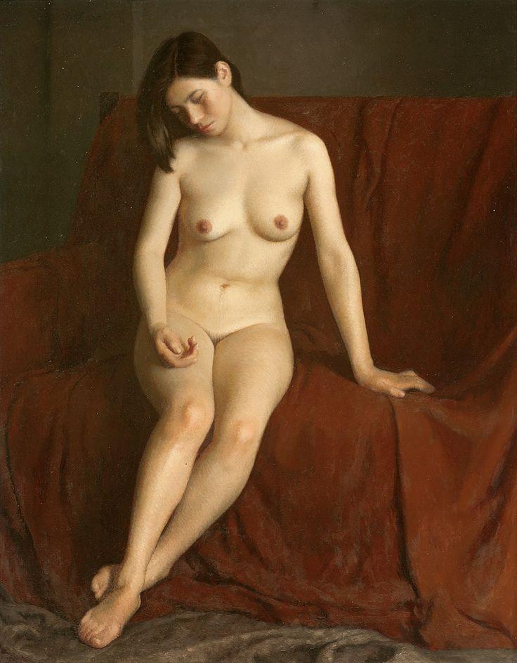 'Seated Nude', Jin Shangyi (靳尚谊), 1983.