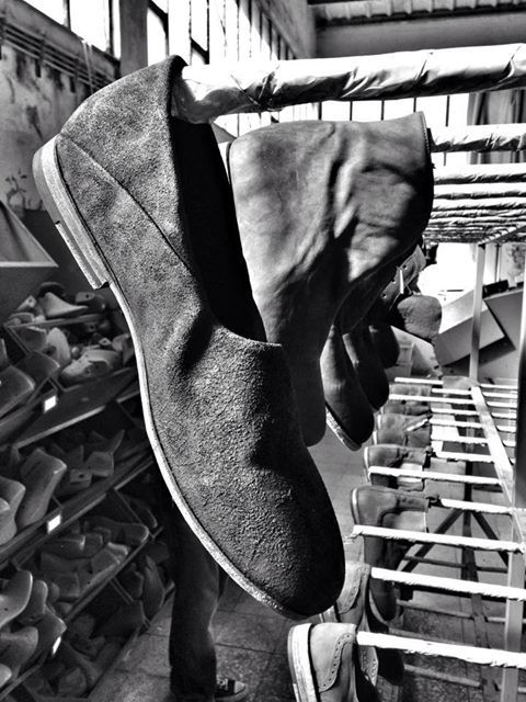 SS 2014 - Paulo loafer drying in the workshop