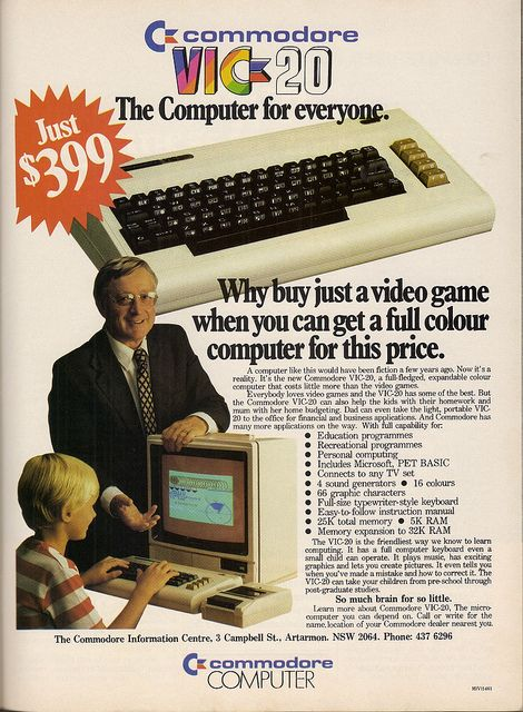 Commodore VIC-20 #retro #70's #technology