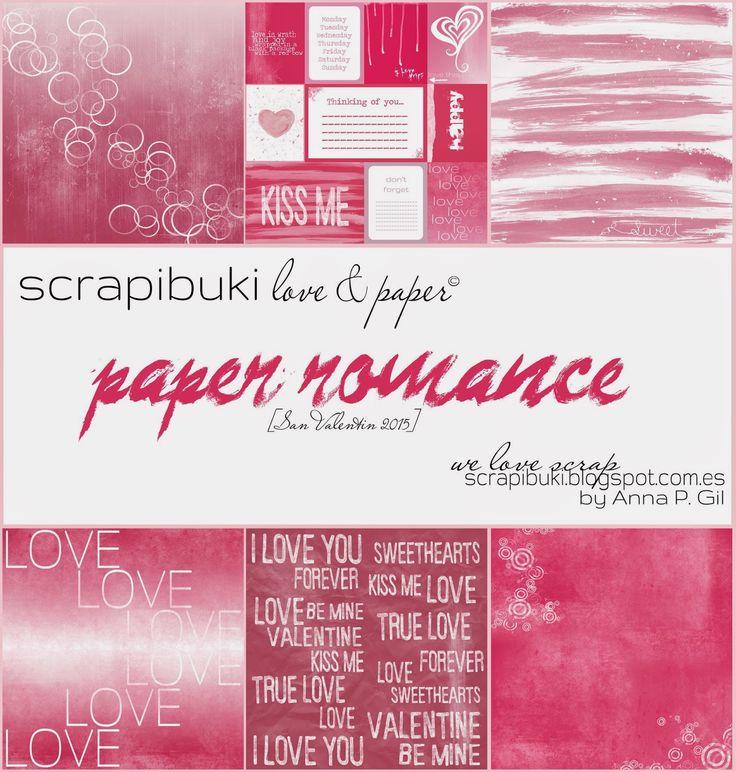Papeles descargables para san Valentín. #scrapbooking #paperromance #freebies #madscraproject
