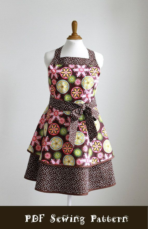 Aprons For Women Patterns | Plus Size Apron Sewing Pattern PDF Women's Full and Half - The ...