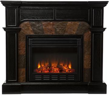 Catherine Faux Slate Fireplace - Gel Fireplace - Ventless Fireplace - Corner Electric Fireplace - Electric Fireplaces - Media Fireplace - Fireplace Media Center - Electric Fireplace Media Center - Corner Fireplace | HomeDecorators.com