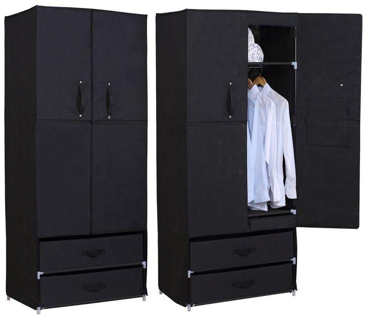 woltu stoff textil kleiderschrank stoffkleiderschrank campingschrank garderobenschrank. Black Bedroom Furniture Sets. Home Design Ideas