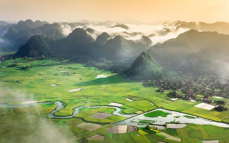Tầm nhìn tuyệt đẹp tại thung lũng Bắc Sơn.