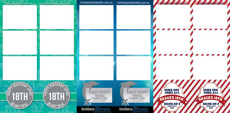 Limitless Photo Booths Photo strips design