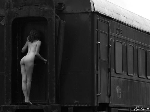 Artistic Nude With Train 62