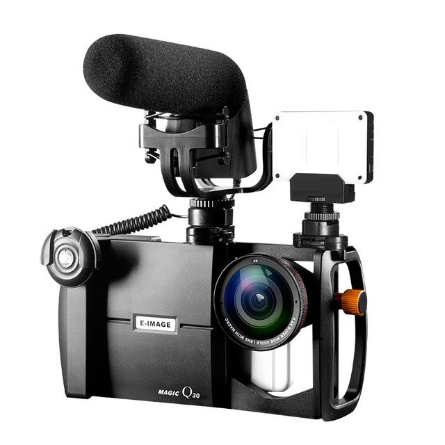 E-IMAGE Magic Q30 Video Mount Case with 4K Wide Angel Lens Macro Lens Kit Euro 78,15