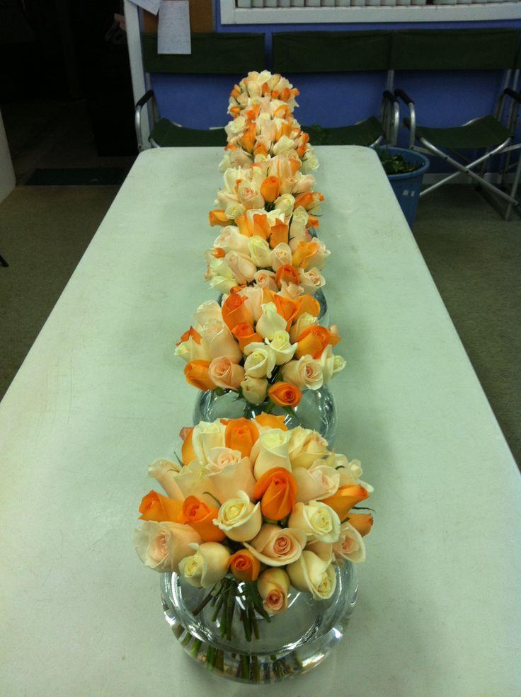 Cute Orange and White Table Setting