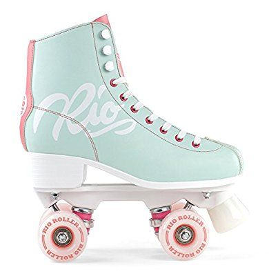 Rio Roller Rollschuhe Script Teal/Coral (37) I can roller skate...barely lol but I do enjoy it.