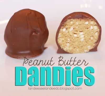 Peanut Butter Dandies - My husband's FAVORITE!  Easy RECIPE made from ingredients you already have!  landeelu.com