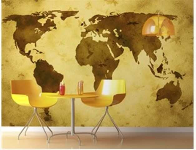 Embellish your walls with map wall murals and decals from InkShuffle for a change!