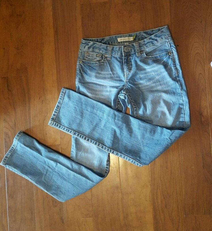 Aeropostale Juniors Jeans Size 5/6 Regular Mayla Skinny Leg Light Wash #Aropostale #SkinnyLeg