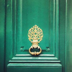 emerald green front door