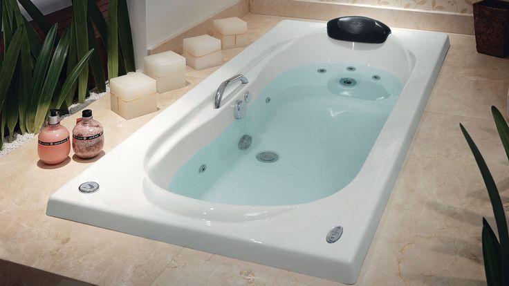 +1000 ideias sobre Banheira Hidro no Pinterest  Madeira Escura, Banheira e O -> Qual Tamanho De Banheiro Com Banheira
