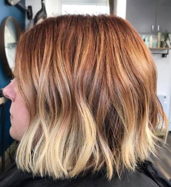 درجات الوان صبغة اومبري للشعر القصير Ombre Short Hair Dye Haircolors Hairstyles Shorthairstyles Haircolortre Short Hair Styles Short Ombre Hair Dyed Hair