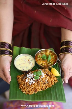 Vangi Bhat, Basundi and Vatana Batata Bhaji Recipe-Gudi Padwa Special #Vangibhat, #brinjal rice, #basundi, #indianrecipes, #festival recipes, #gudipadwa, #vatanabatatabhaji, #peas, #potatoes, #indiarecipes, #spicy, #tasty, #rice #foodphoto #foodphotographer #foodblogger #foodblogging #foodporn