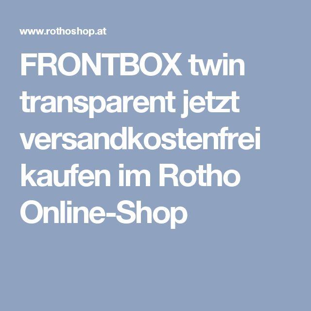 FRONTBOX twin transparent jetzt versandkostenfrei kaufen im Rotho Online-Shop