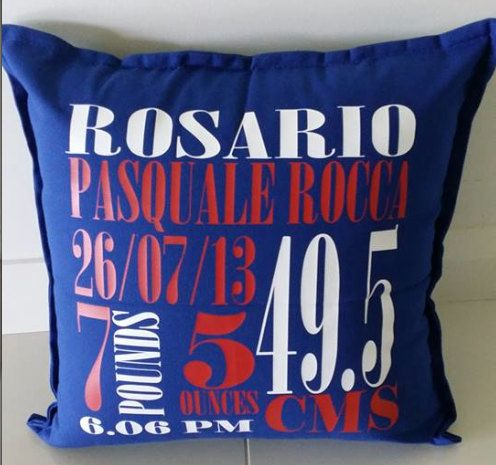 Creative unisex personalised New Baby Birth announcement pillows for New Borns, special birthday, christening gifts and the perfect keepsake by louiseexclusivelyyou on Etsy
