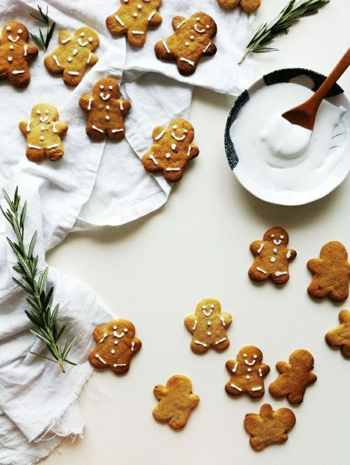 Sweet little gingerbread men. Just in time for the holiday baking season!