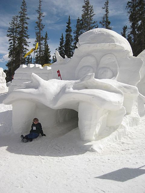Snow fort sculpture in Whistler Backcome - Snow sculpture competition #Whistler