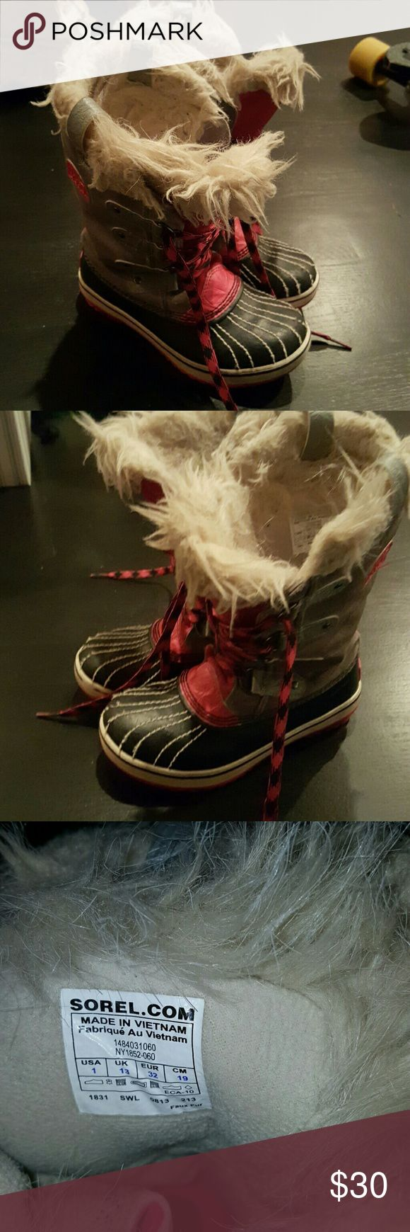 Kids Sorel boots size 1 usa Sorel pink and blue sorels Mango Shoes Winter & Rain Boots