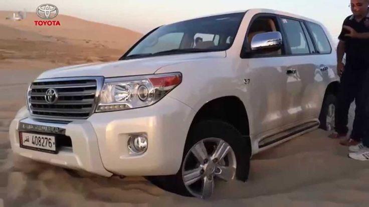 TLC 200 Off-road 4x4 Test in Sand Toyota Deep Stuck