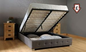 Groupon - Fabric Ottoman Storage Bed Frame (from £134.99) with Mattress (from £199.99) with Free Delivery (Up to 70% Off). Groupon deal price: £134.99