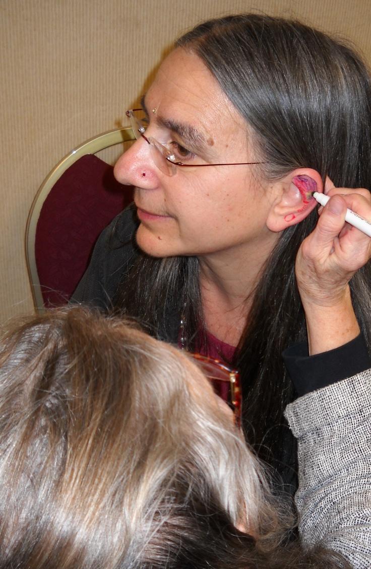 Learning Ear Reflexology Locations. www.AmericanAcademyofReflexology.com