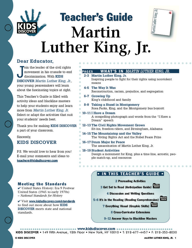 martin luther king lesson plans middle school search results education here is a fun way to. Black Bedroom Furniture Sets. Home Design Ideas
