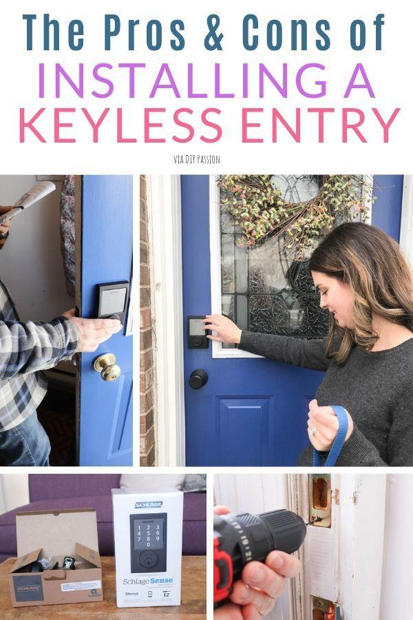 How To Upgrade Your Front Door With A Keyless Entry Smart Door Locks Front Door Installation Entry Door Locks
