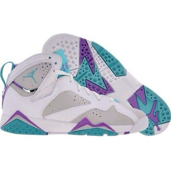 Shoes air jordans 7 air jordans retro teal purple gray ❤ liked on Polyvore featuring shoes, s h o e s and jordans