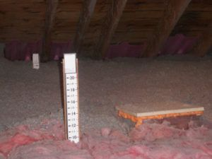 Depth Of Blown Insulation Attic