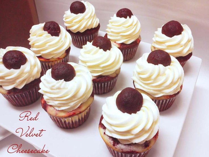 RED VELVET CHEESECAKE CUPCAKES. Gorgeous Red Velvet and Creamy Cheesecake Gourmet Cupcakes For Delivery Enjoy These Made To Order, Gourmet Red Velvet Cheesecake Cupcakes Delivered From Soulfully Yours Bakery. Decadent Moist Gourmet Red Velvet Cupcakes With Creamy Cheesecake Baked To Perfection. Topped With Cream Cheese Buttercream. With Garnishes of Exquisite Hand Made Red Velvet Cake Truffles.