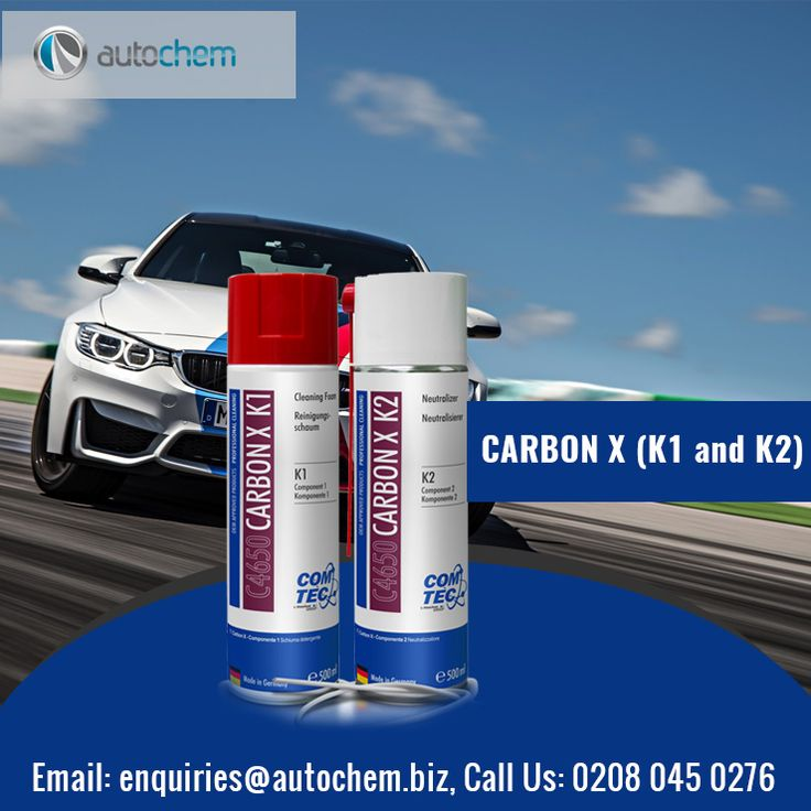 2-component cleaning system for removal of operating-related, carbon containing deposits in the entire combustion chamber of petrol and diesel engines. Residues in the EGR valve, the turbocharger and the air intake system (intake manifold to intake valves) are also reliably eliminated. It does not attack seals and is compatible with all engine components. #UK #Autochem #Automobiles