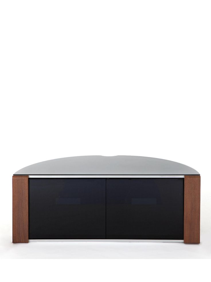 Beam Thru Curved TV Unit - suitable for 42 or 55 inch televisions This super stylish TV unit has a contemporary curved shape and is easy to keep looking neat and tidy.That's because the glass doors feature beam-thru technology which allows your DVD player and set-top box etc. to be operated via remote control even when they're closed - no more constantly getting up to open the doors.Making your life even easier are the wood-effect trims that come in oak and walnut... can't decide which ones…