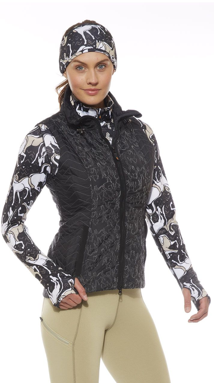 Horse Play Quilted Equestrian Vest   Kerrits